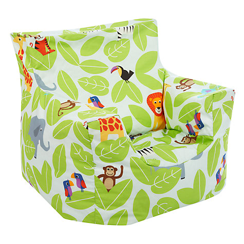 Buy Little Home At John Lewis Animal Fun Jungle Bean Chair Online Johnlewis