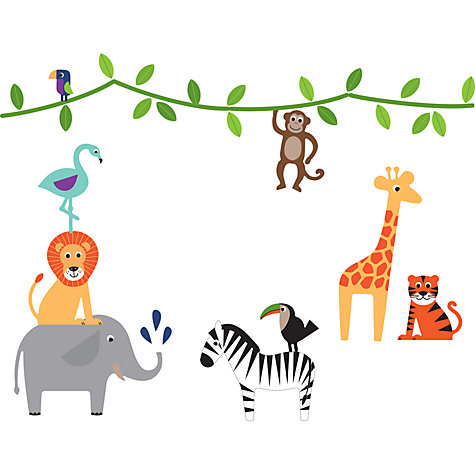 Buy Little Home At John Lewis Animal Fun Wall Stickers Online At  Johnlewis.com ... Part 62