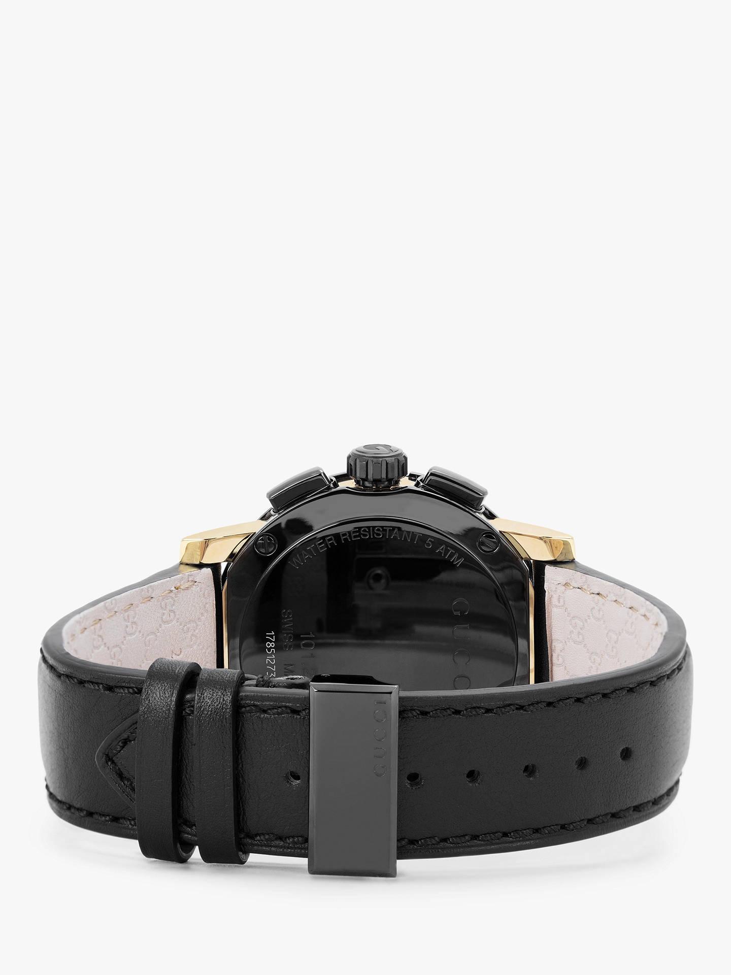 5b66357badf ... Buy Gucci YA101203 Men s G-Chrono Chronograph Leather Strap Watch