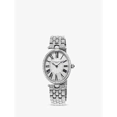 Frédérique Constant FC-200MPW2V5B Women's Classics Art Deco Bracelet Strap Watch, Silver/Mother of Pearl