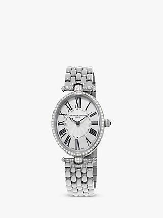 Frederique Constant FC-200MPW2V5B Women's Classics Art Deco Bracelet Strap Watch, Silver/Mother of Pearl