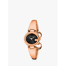 Buy Gucci YA134509 Women's Guccissima Bangle Strap Watch, Rose Gold/Black Online at johnlewis.com