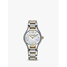 Buy Raymond Weil 5124-SPS00985 Women's Noemia Mother of Pearl Diamond Bracelet Strap Watch, Silver/Gold Online at johnlewis.com