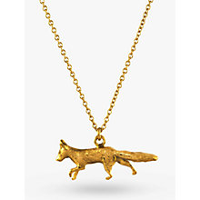 Buy Alex Monroe 22ct Gold Vermeil The Chase Prowling Fox Pendant, Gold Online at johnlewis.com