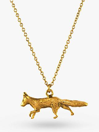 Alex Monroe 22ct Gold Vermeil The Chase Prowling Fox Pendant, Gold