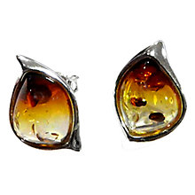Buy Goldmajor Amber And Sterling Silver Sunset Earrings, Orange Online at johnlewis.com