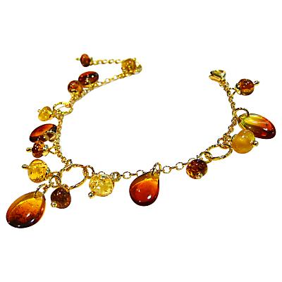 Goldmajor Gold Plated Amber Drop Bracelet