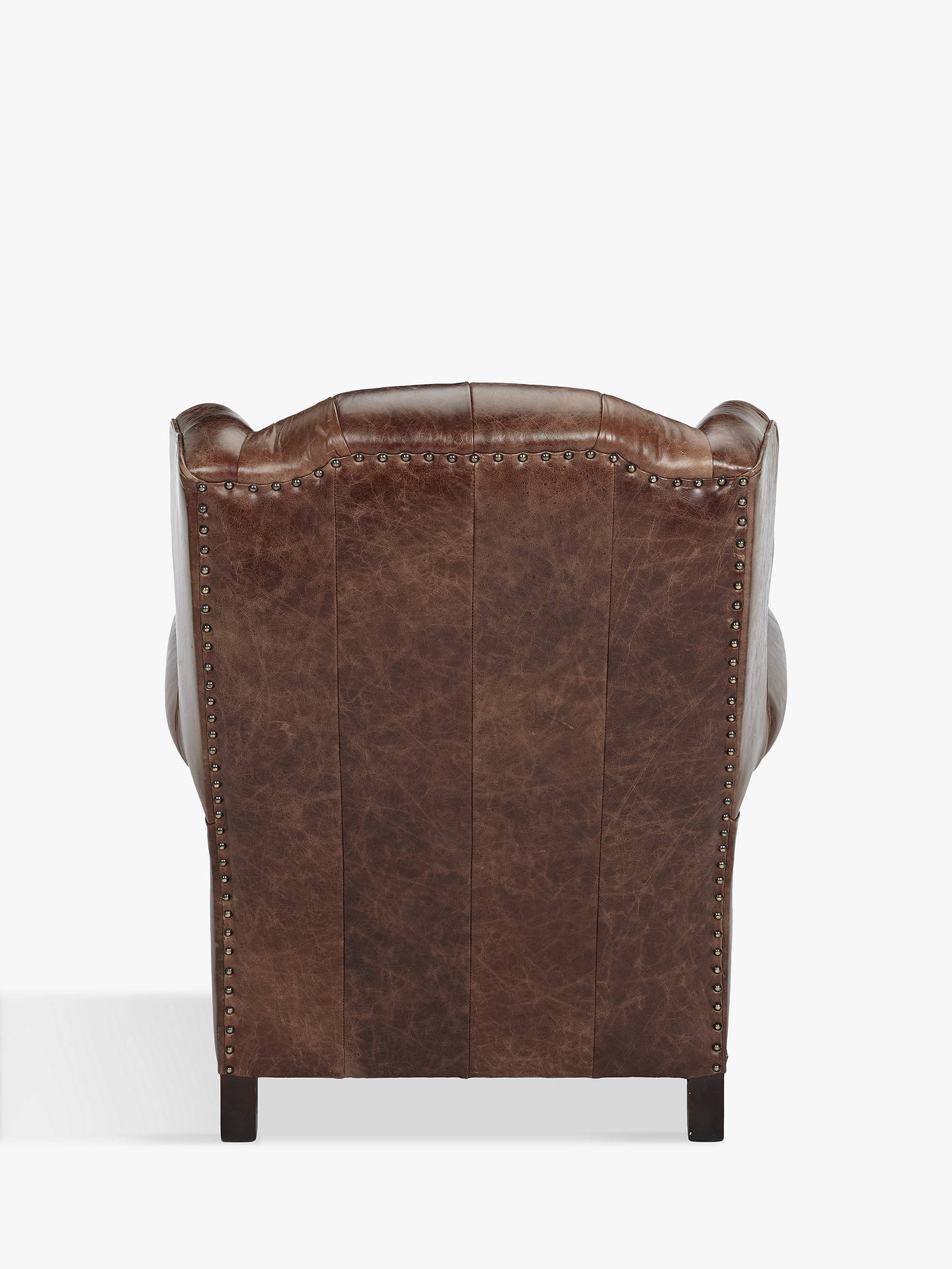 Buy John Lewis & Partners Claverdon Semi-Aniline Leather Armchair, Galveston Hide Online at johnlewis.com