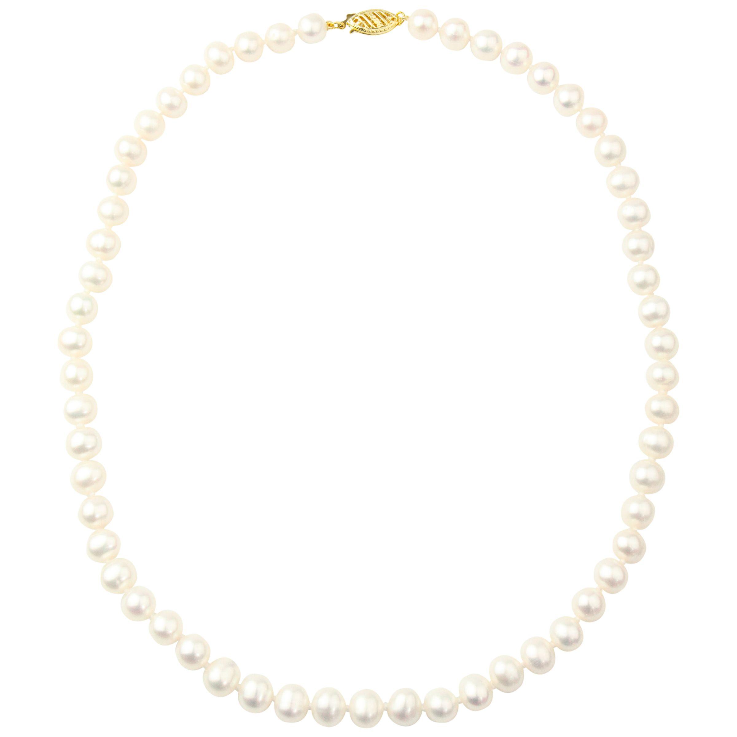 A B Davis A B Davis 9ct Freshwater Pearl Necklace, White