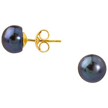 Buy A B Davis 9ct Yellow Gold Freshwater Pearl Stud Earrings Online at johnlewis.com