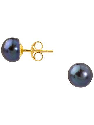 A B Davis 9ct Yellow Gold Freshwater Pearl Stud Earrings