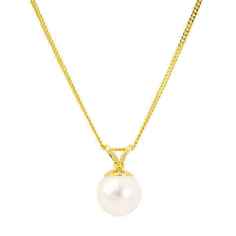 Buy A B Davis Freshwater Pearl Pendant Necklace, White Gold Online at johnlewis.com