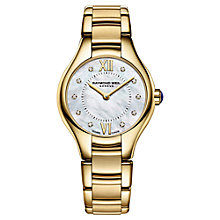 Buy Raymond Weil 5124-P00985 Women's Noemia Mother Of Pearl Diamond Bracelet Strap Watch, Gold/Silver Online at johnlewis.com