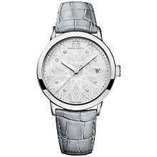 Buy 88 Rue Du Rhone 87WA140018 Women's Double 8 Origin Mother of Pearl Leather Strap Watch, Grey/Silver Online at johnlewis.com