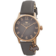 Buy Radley RY2248 Women's Blair Leather Strap Charm Watch, Grey Online at johnlewis.com