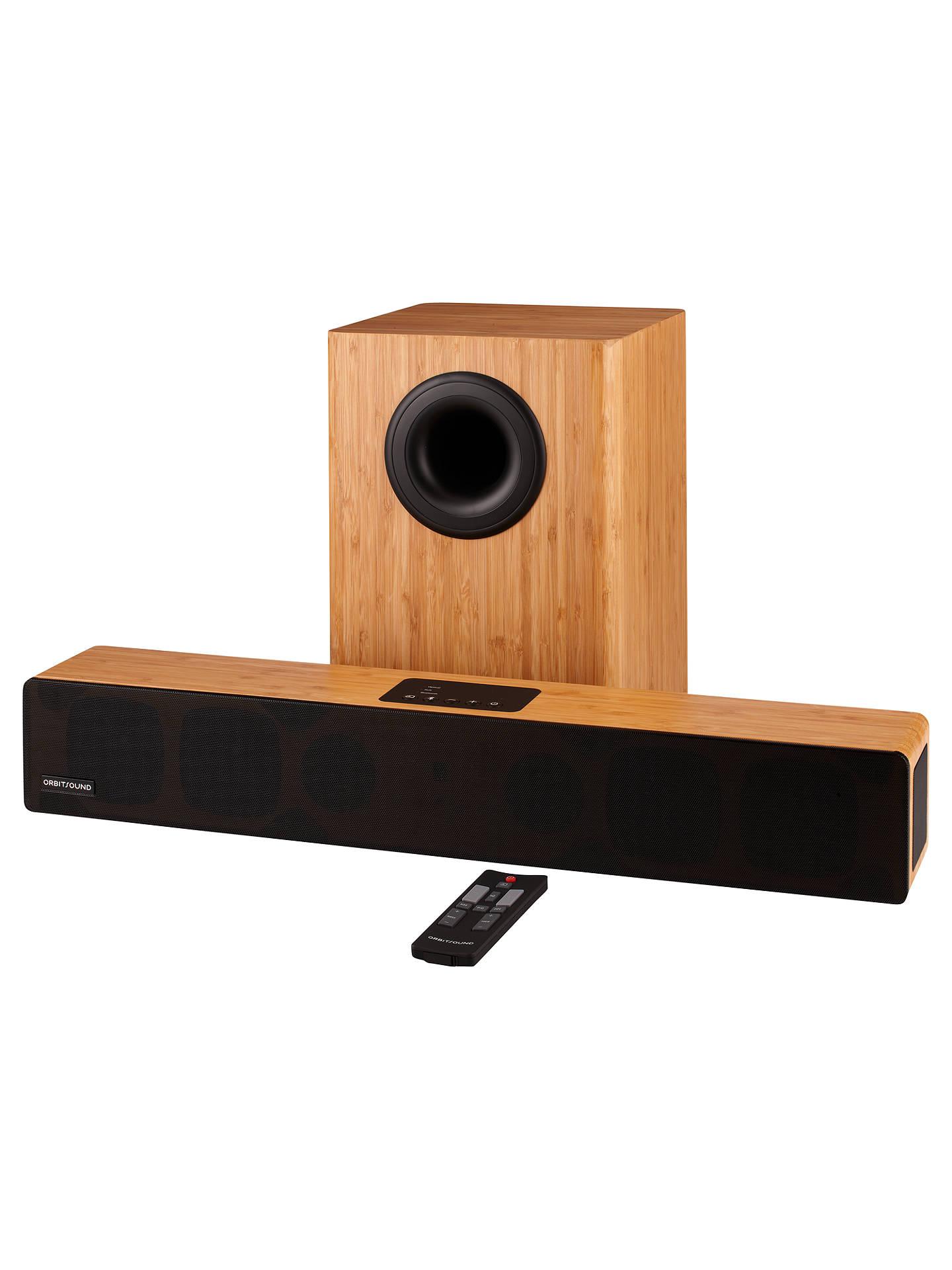 orbitsound m12 bluetooth sound bar with wireless subwoofer. Black Bedroom Furniture Sets. Home Design Ideas