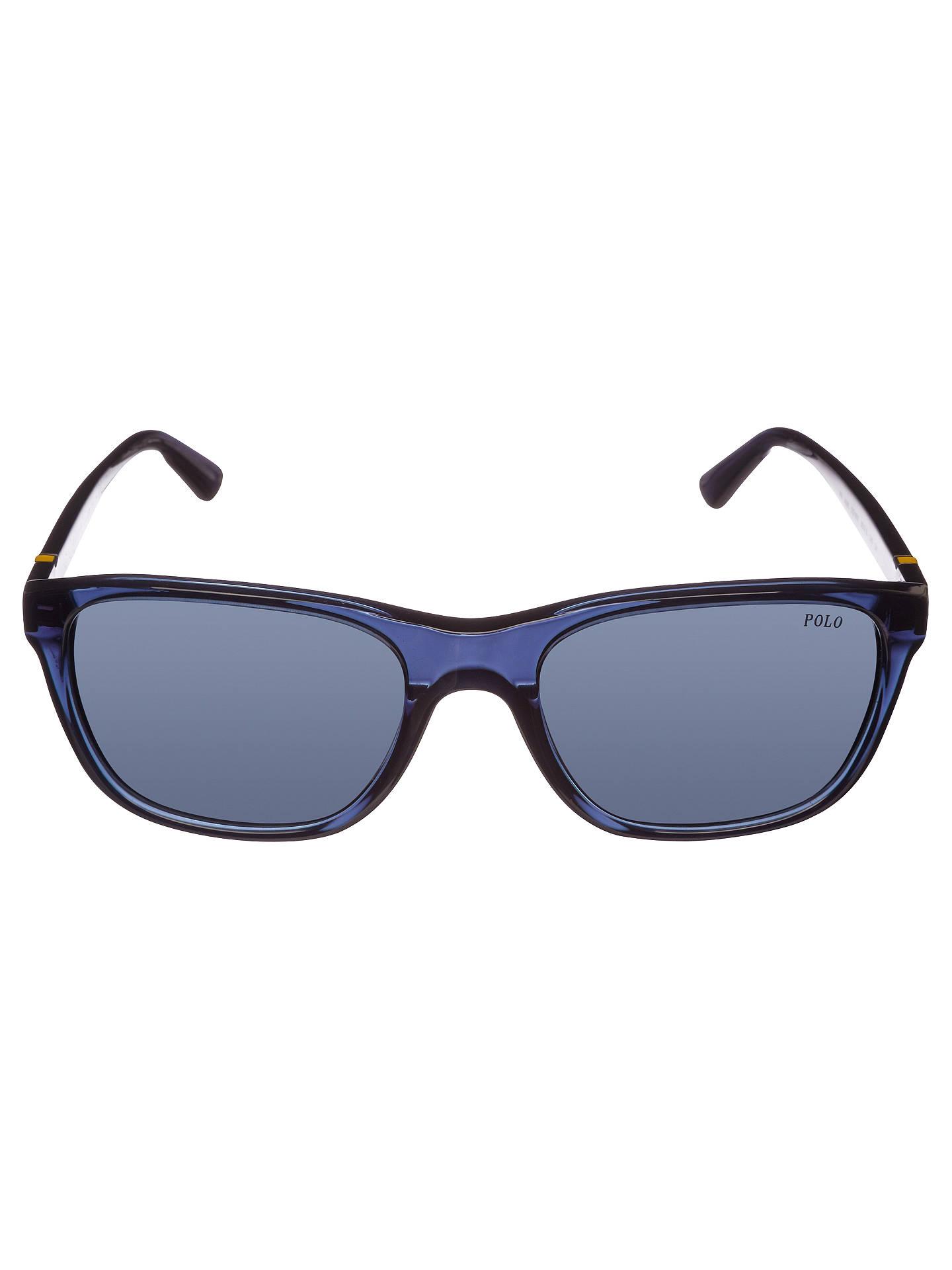 848f4258250e ... cheapest buypolo ralph lauren ph4085 527687 square sunglasses  transparent blue online at johnlewis e655b f9164