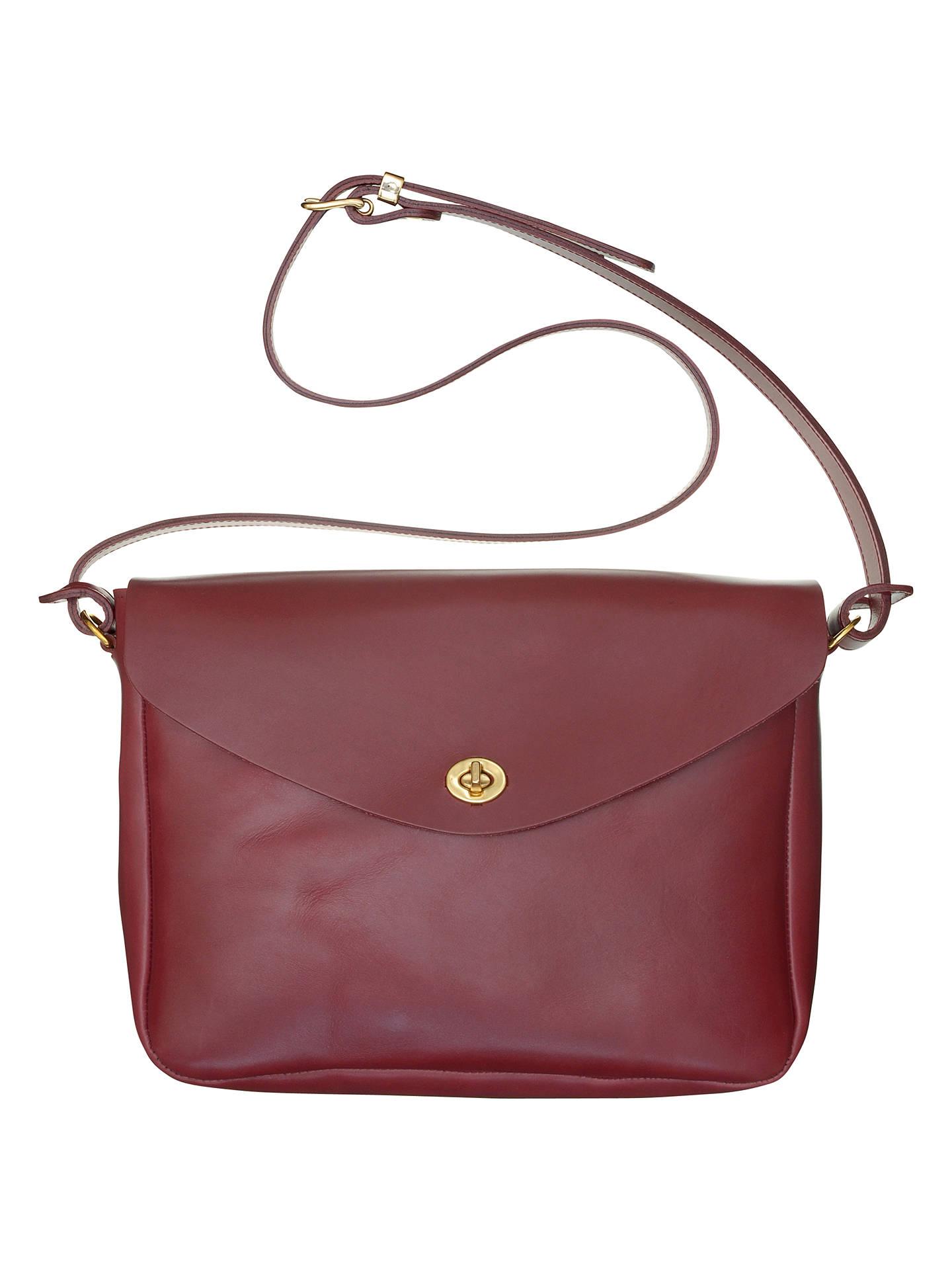 Mimi Berry Frank Leather Medium Shoulder Bag Bordeux Online At Johnlewis