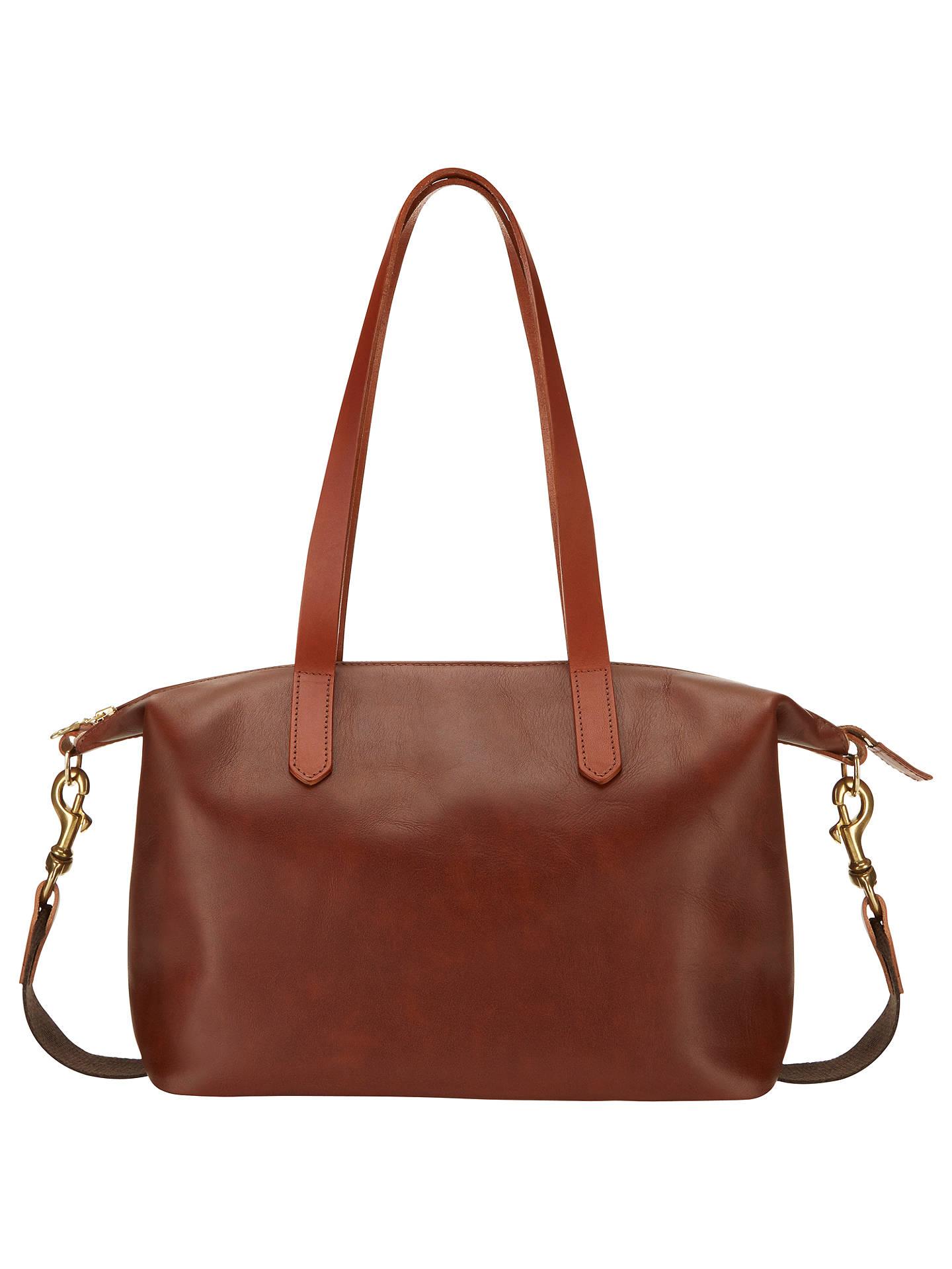 Mimi Berry Juno Leather Shoulder Bag Tan Online At Johnlewis