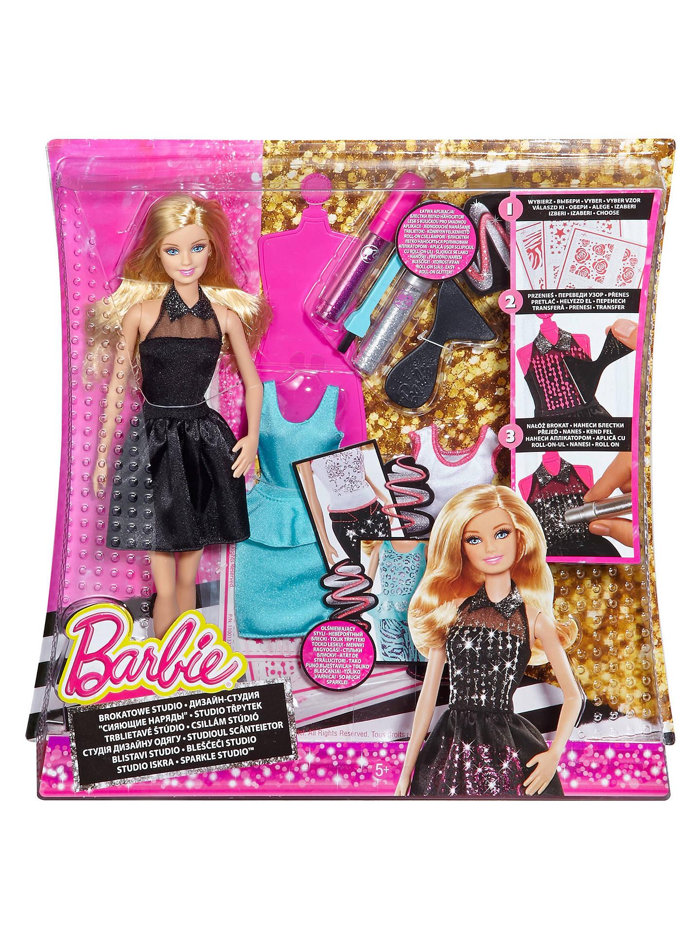 Barbie Sparkle Studio Dress Design Set At John Lewis