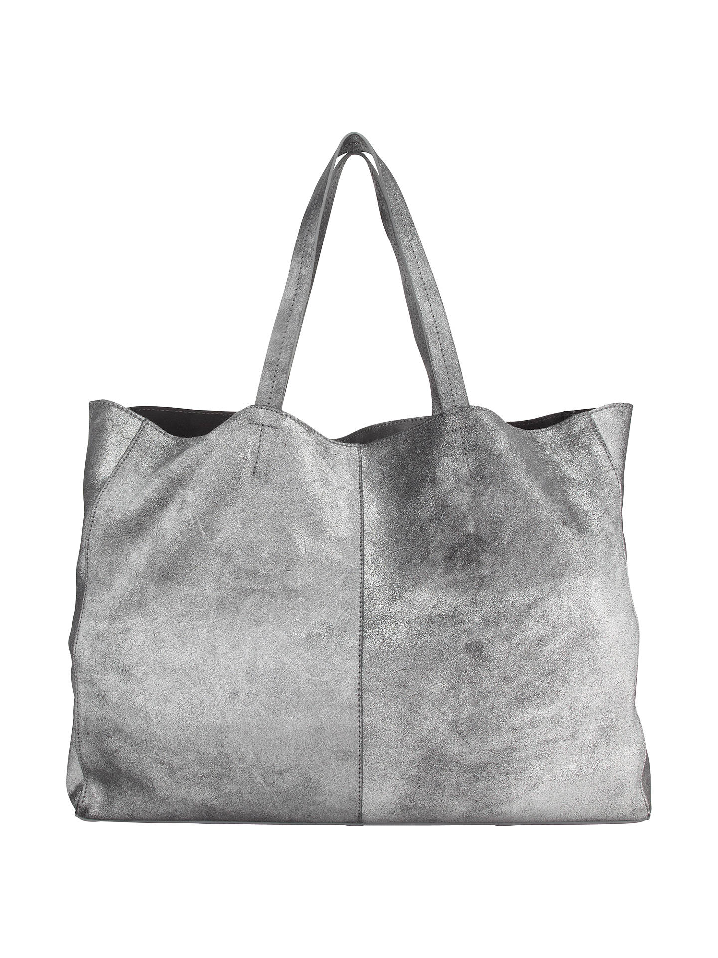 afbfd340055 Buy Collection WEEKEND by John Lewis Morgan Leather Tote Bag, Silver Online  at johnlewis.