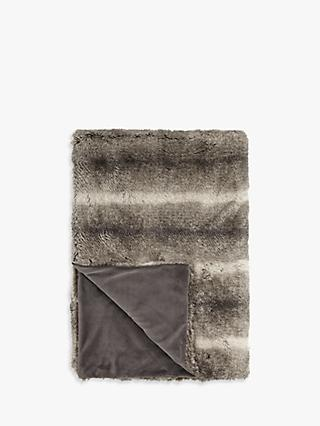 John Lewis & Partners Faux Fur Throw