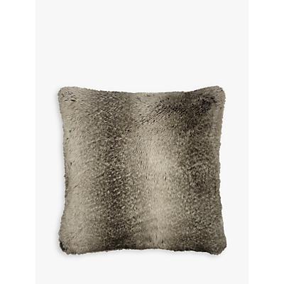 John Lewis Faux Fur Cushion, Ombre Mocha