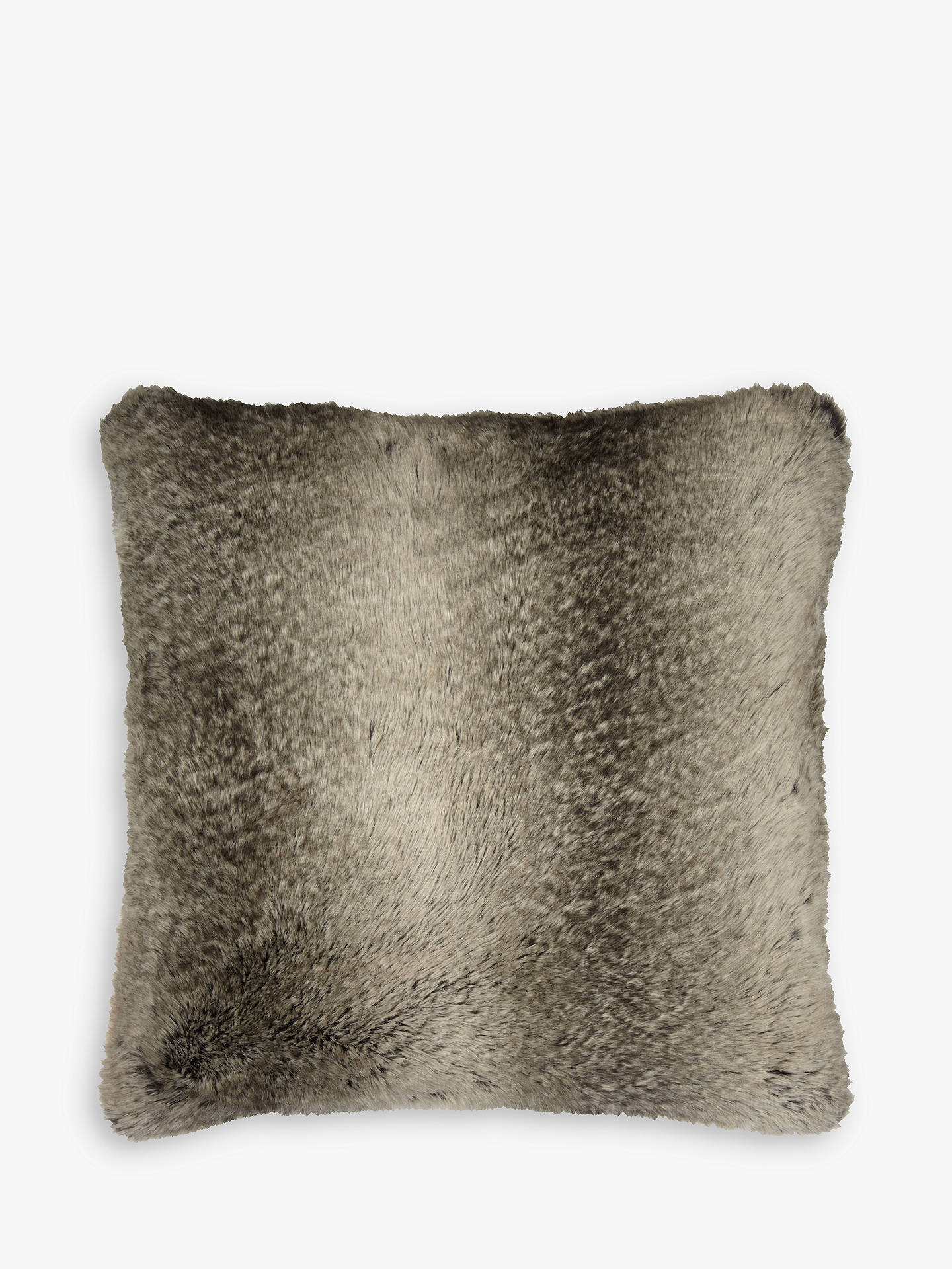 Buy John Lewis & Partners Faux Fur Large Cushion, Ombre Mocha Online at johnlewis.com