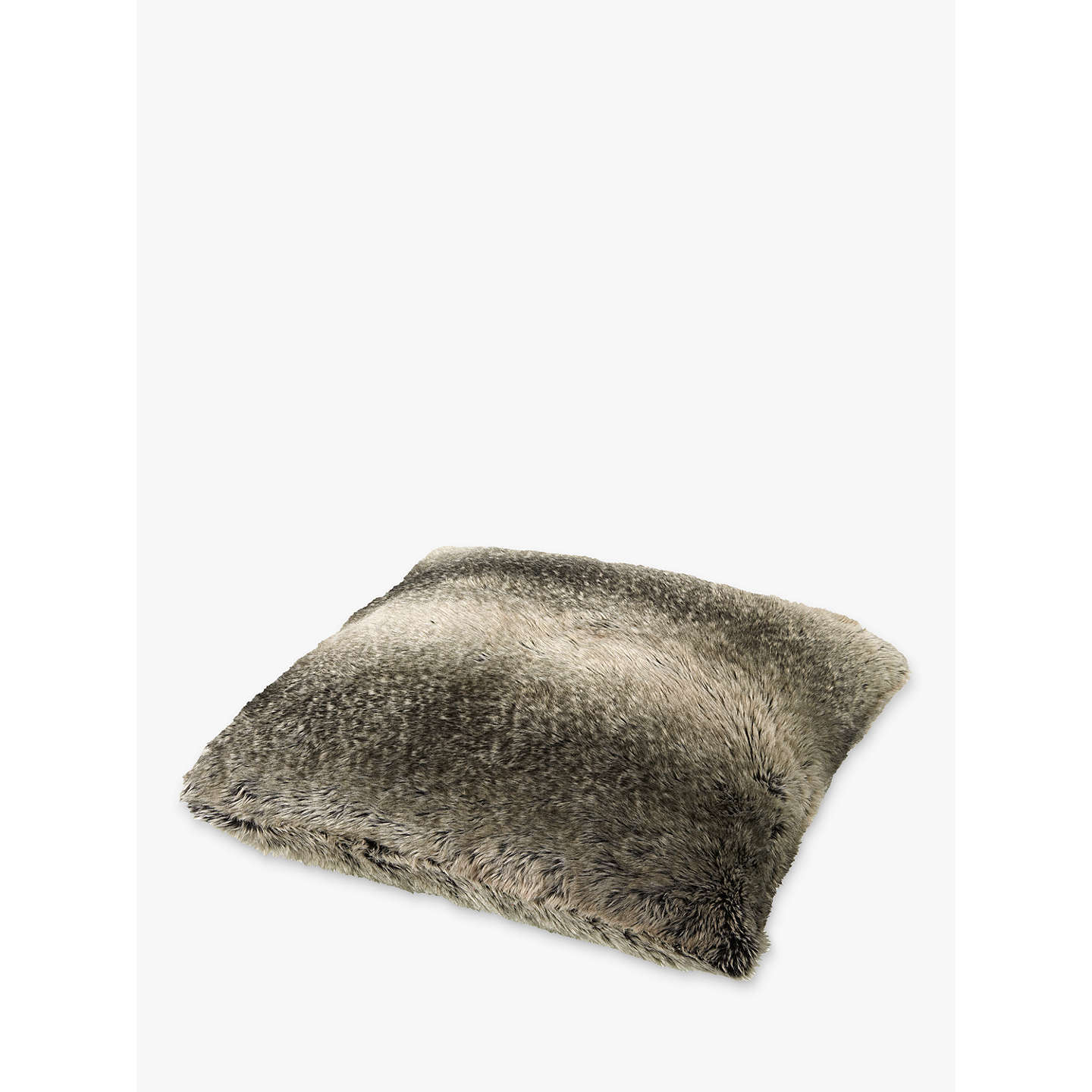 BuyJohn Lewis Ombre Faux Fur Cushion, Mocha Online at johnlewis.com