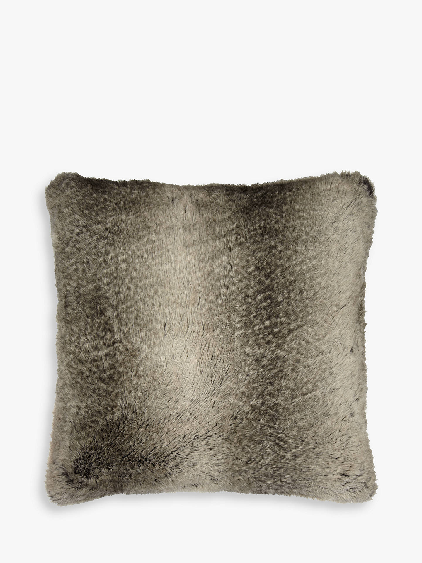 Buy John Lewis & Partners Faux Fur Cushion, Mocha Ombre Online at johnlewis.com