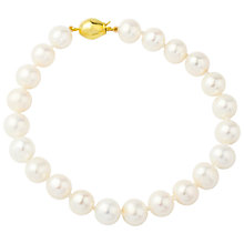 Buy A B Davis 9ct Freshwater Cultured Pearl Bracelet, White Online at johnlewis.com