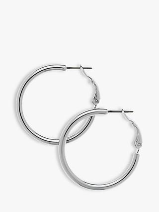 Melissa Odabash Rhodium Hoop Earrings