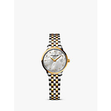 Buy Raymond Weil 5988-STP-97081 Women's Toccata Two Tone Mother of Pearl Bracelet Strap Watch, Silver/Gold Online at johnlewis.com