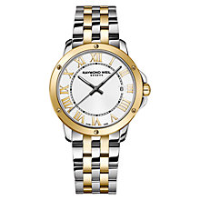Buy Raymond Weil 5591-STP-00308 Men's Tango Two Tone Bracelet Strap Watch, Silver/Gold Online at johnlewis.com