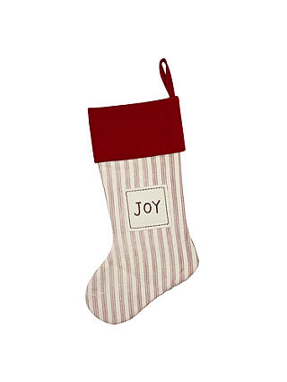 Buy John Lewis Stripe Stocking, Red/White Online at johnlewis.com