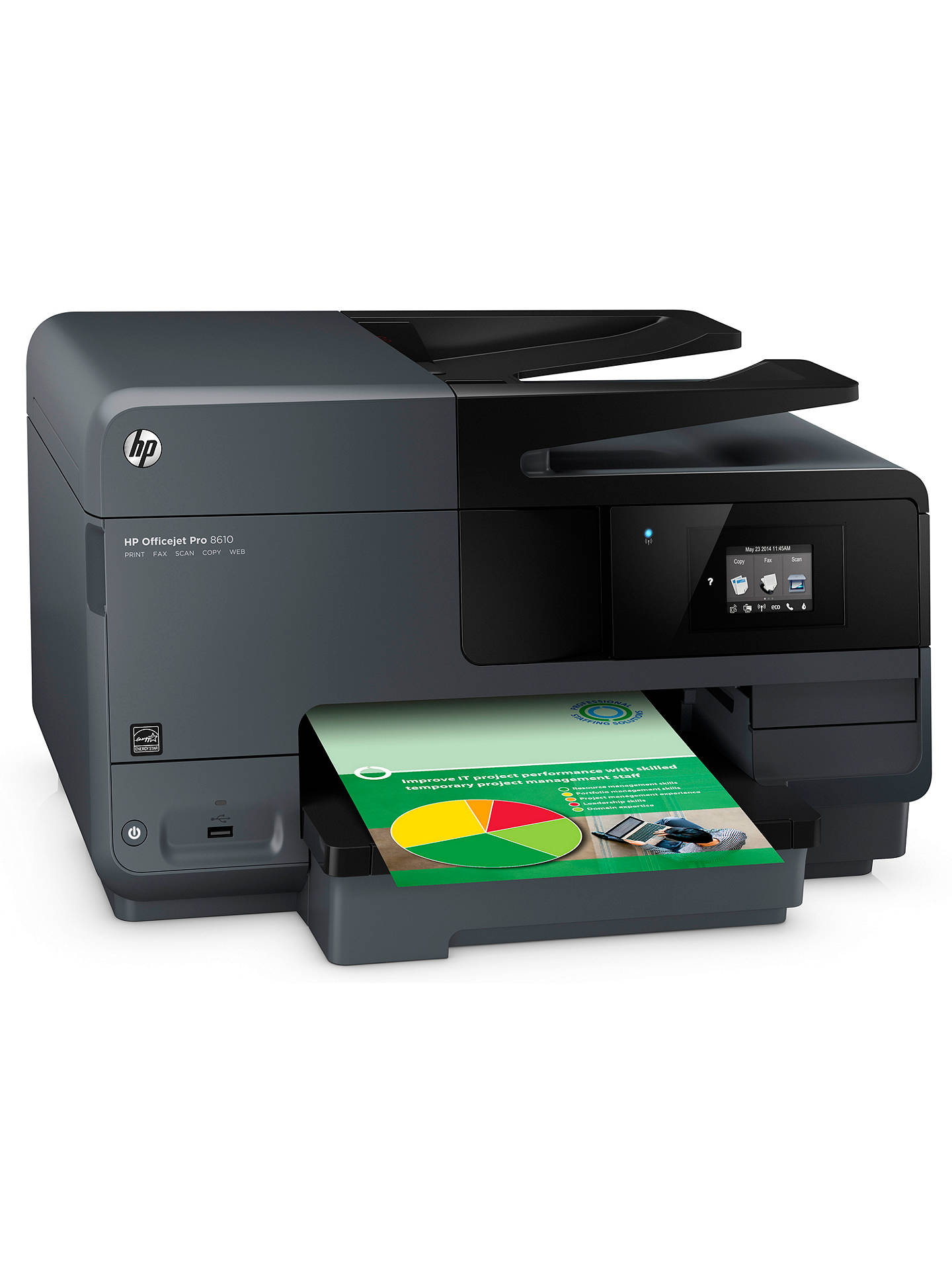 Hp Officejet Pro 8610 Wireless E All In One Printer Fax Machine
