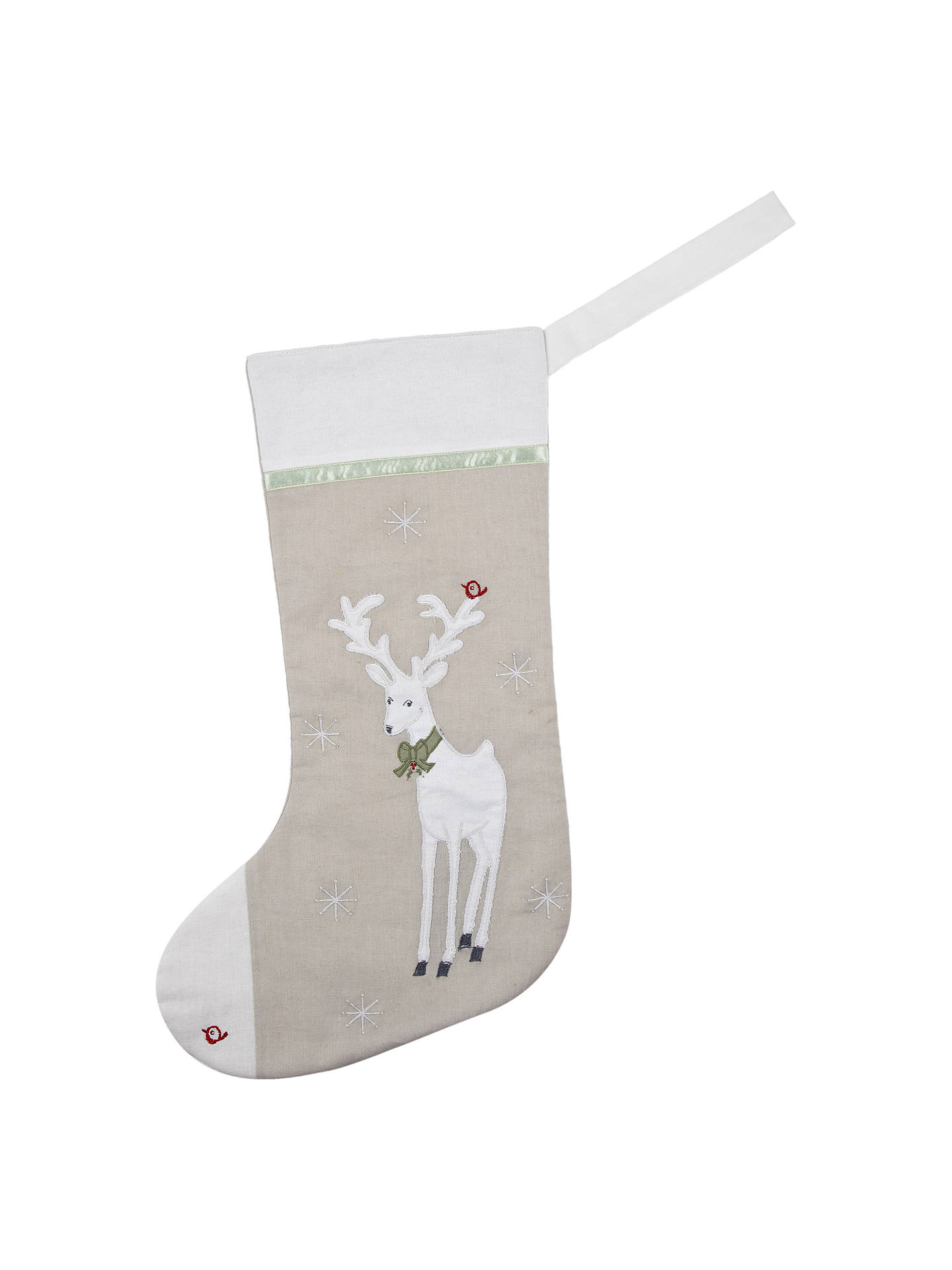 Buy Cambric & Cream Personalised Reindeer Stocking Online at johnlewis.com