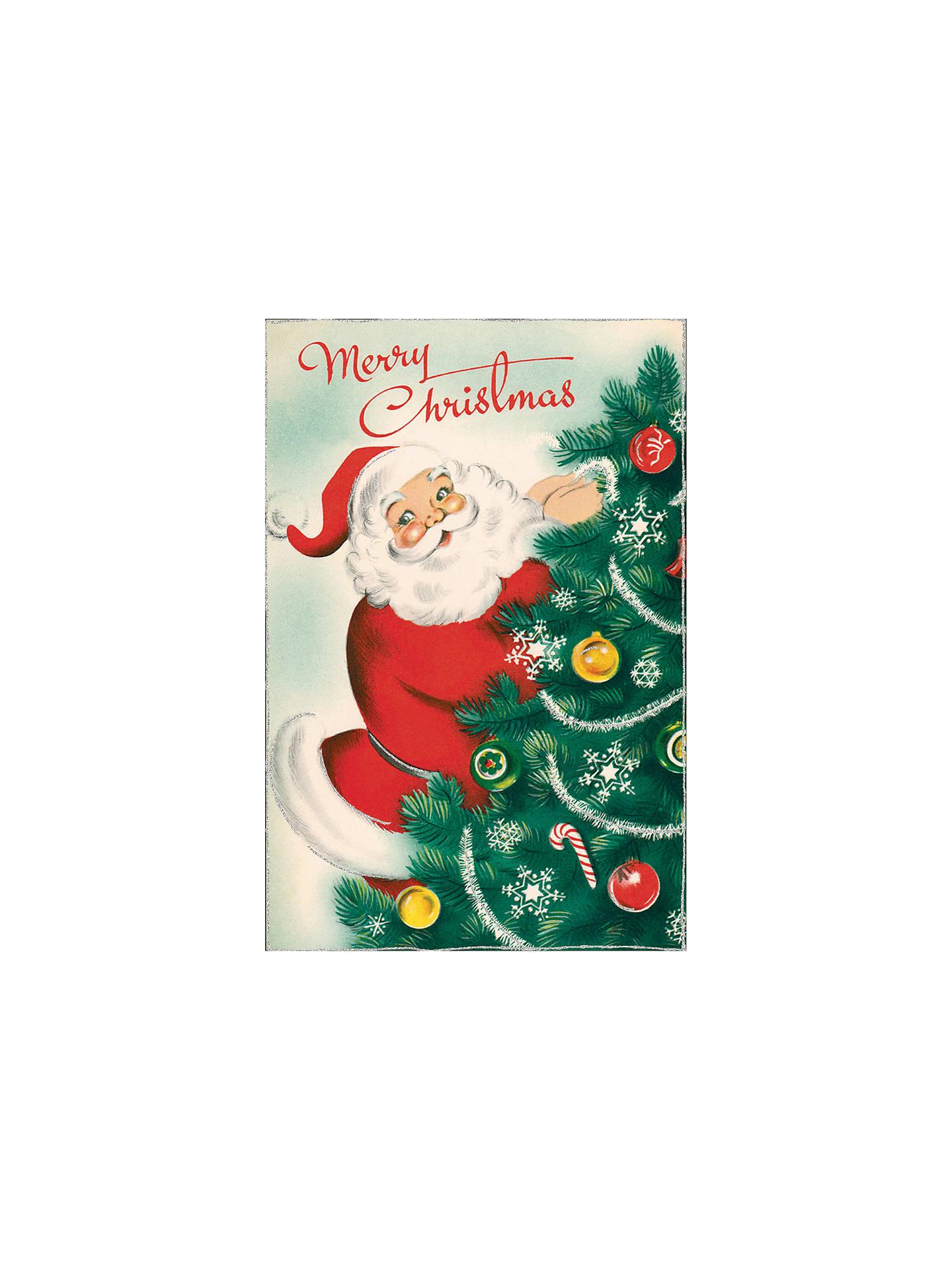 Cavallini Santa Christmas Cards, Box of 10 at John Lewis & Partners