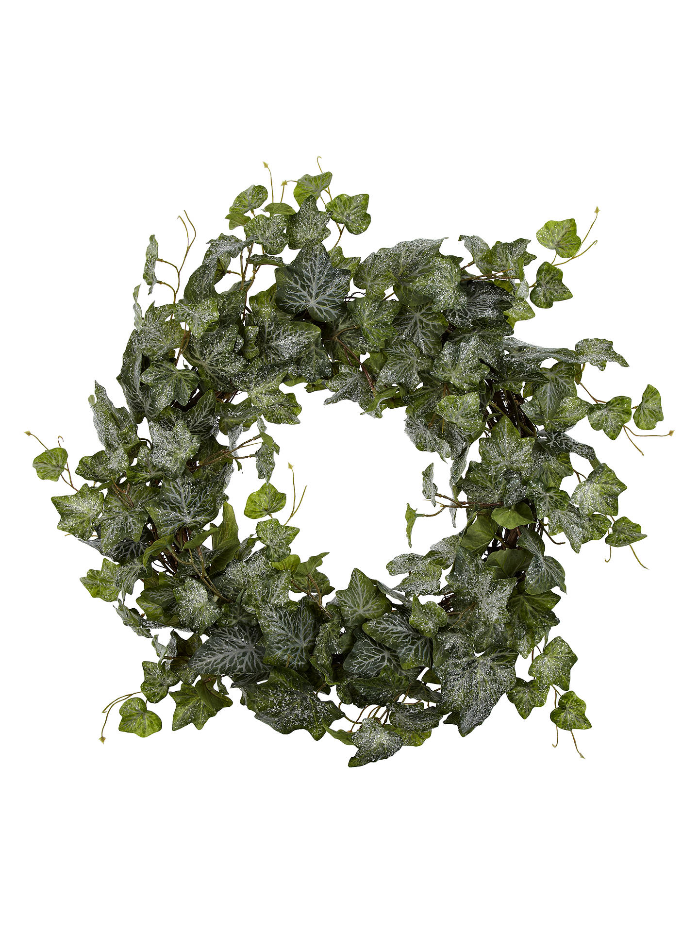 john lewis frosted ivy wreath green at john lewis partners