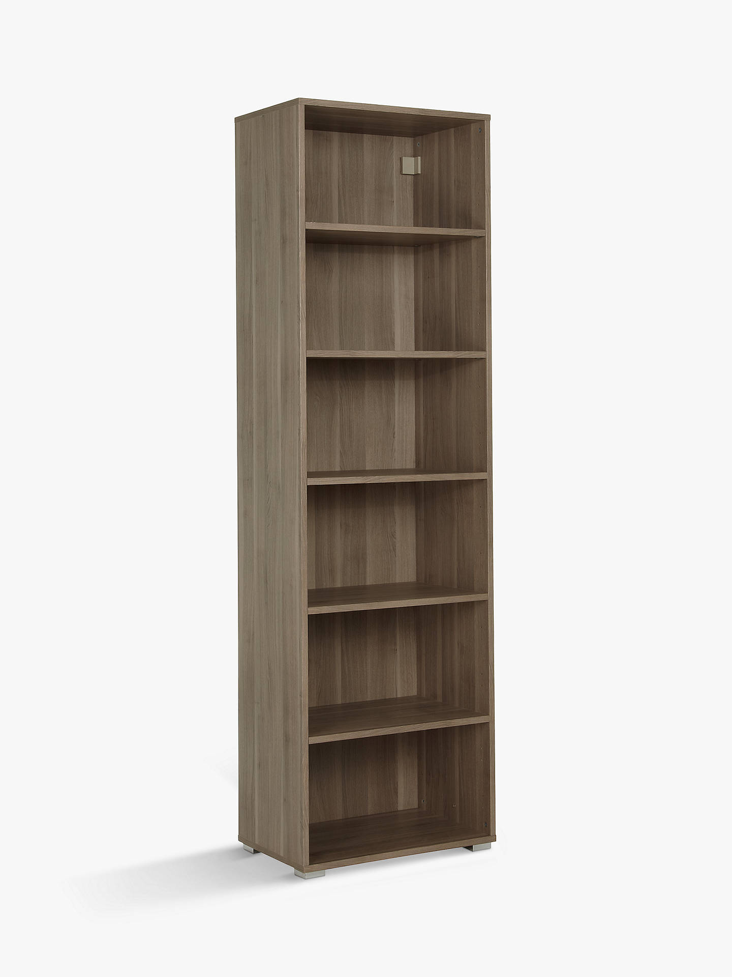 Buy House by John Lewis Mix it Tall Single Shelf Unit, Grey Ash Online at johnlewis.com