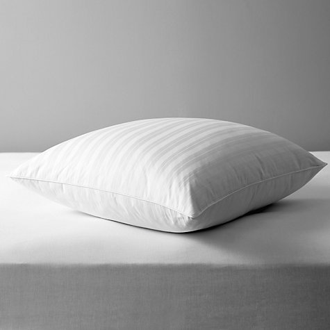 Buy John Lewis Natural Collection Siberian Goose Feather and Down Square Pillow, Medium/Firm Online at johnlewis.com