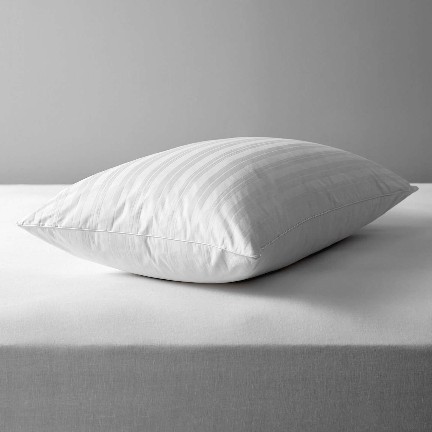 BuyJohn Lewis Natural Collection Siberian Goose Feather and Down Standard Pillow, Medium Online at johnlewis.com