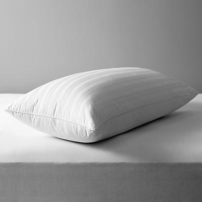 John Lewis & Partners Natural Collection Siberian Goose Feather and Down Kingsize Pillow, Medium/Firm