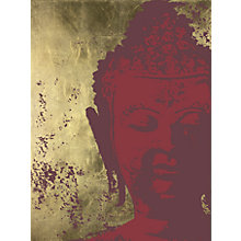 Buy Ulyana Hammond - Buddha Canvas Print, Red and Gold, 68 x 100cm Online at johnlewis.com