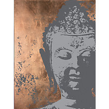 Buy Ulyana Hammond - Buddha Canvas Print, Grey and Copper, 60 x 100cm Online at johnlewis.com