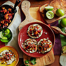 Tacos with Squash and Chorizo