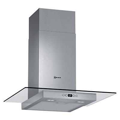 Image of Neff D86EH52N0B 60cm Chimney Cooker Hood With Flat Glass Canopy Stainless Steel