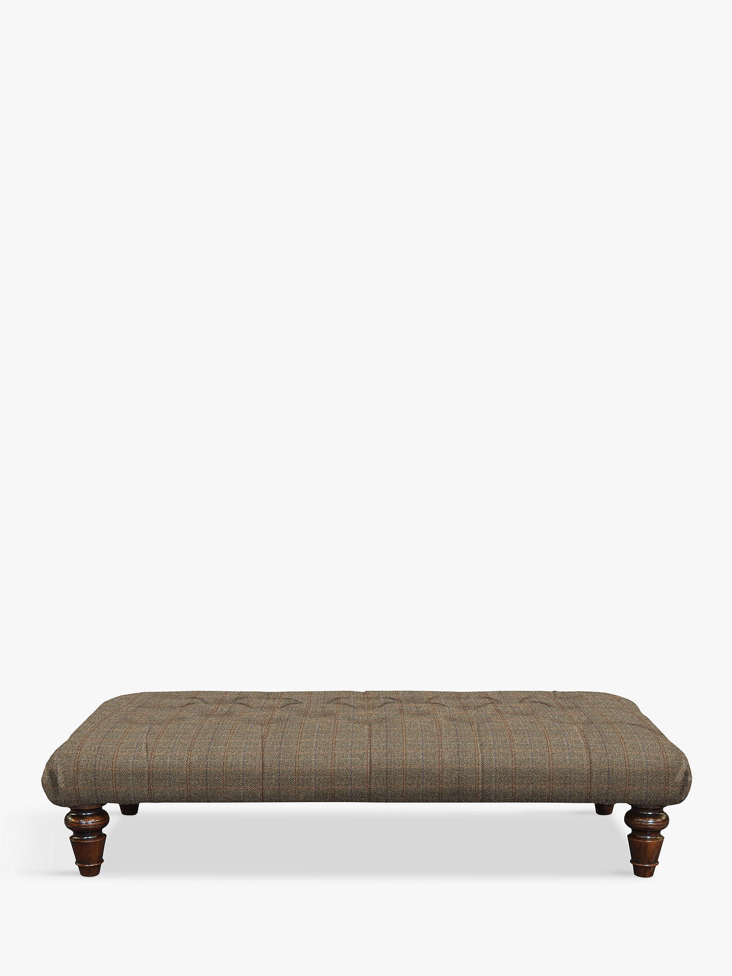 BuyTetrad Harris Tweed Lewis Large Button Footstool, Bracken/Tan Online at johnlewis.com