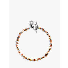 Buy Dower & Hall Nomad Nugget Tri-Colour Mixed Bracelet, Gold/Silver Online at johnlewis.com
