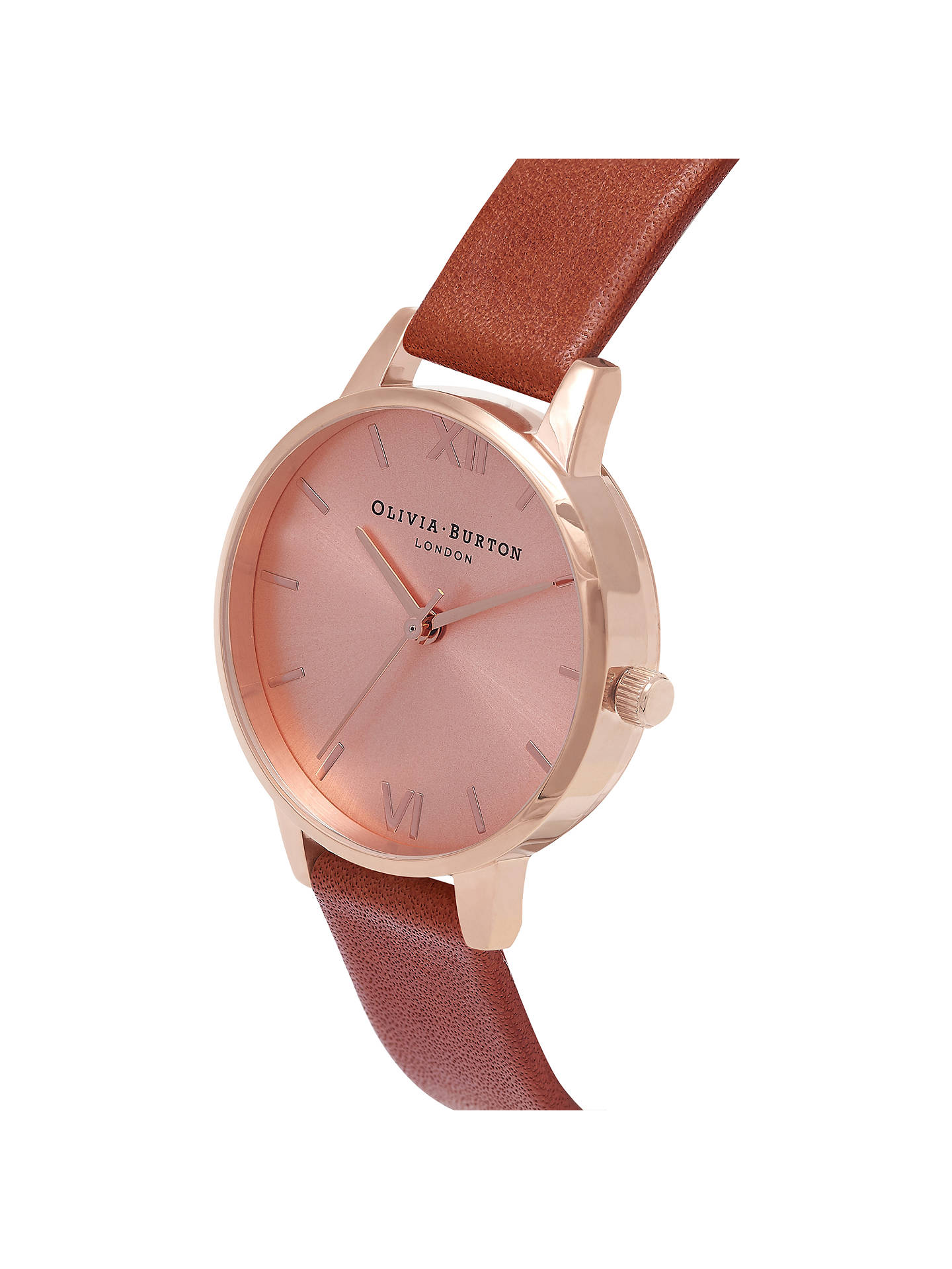BuyOlivia Burton OB14MD22 Women's Midi Dial Leather Strap Watch, Tan/Gold OB14MD22 Online at johnlewis.com